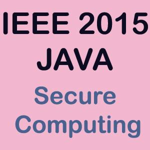 ieee 2015 java Secure Computing
